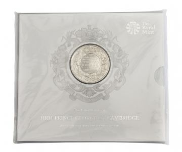 2013 Prince George £5 Royal Mint Brilliant Uncirculated pack